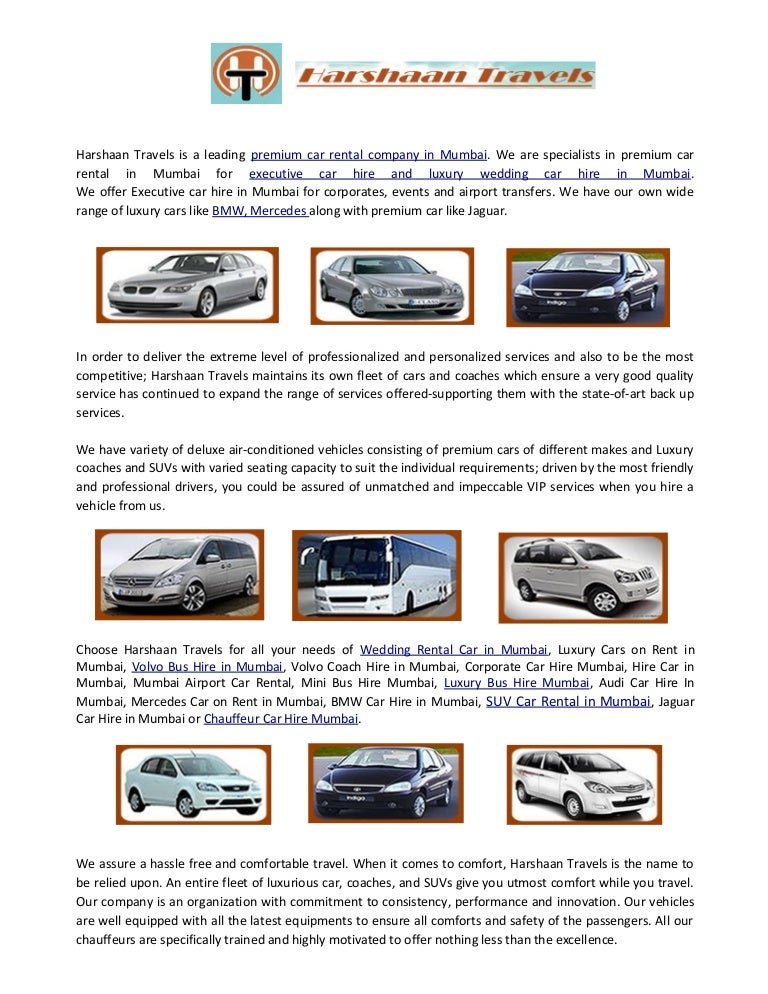 Executive Car Hire In Mumbai Car Rental Services In Mumbai