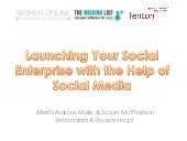 Launching Your Social Enterprise with the Help of Social Media