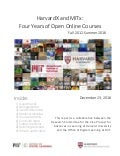 HarvardX and MITx: Four Years of Open Online courses. Fall 2012-Summer 2016