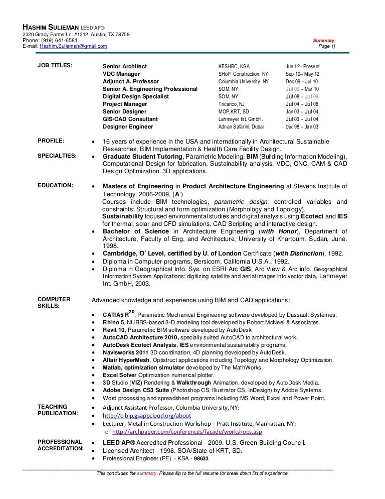 Hashim ibnauf resume for Leed letter template