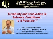 Hassim MATE 37th conference 1 feb. 2017