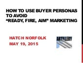 "How To Use Buyer Personas To Avoid ""Ready, Fire, Aim"" Marketing"