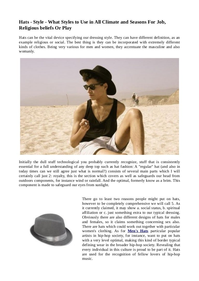 Hats Style What Styles To Use In All Climate And Seasons For Job