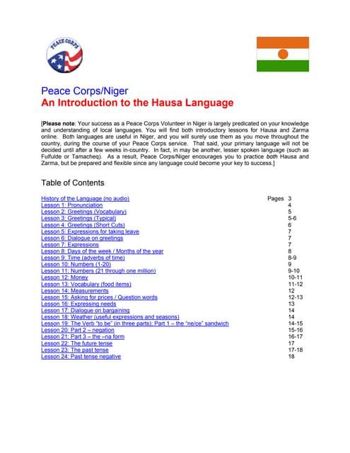 Basic Hausa Language Course
