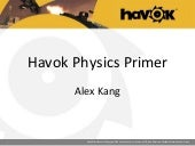 """하복 코리아 7회 오픈 세미나 """"Havok physics 기초"""" 발표"""
