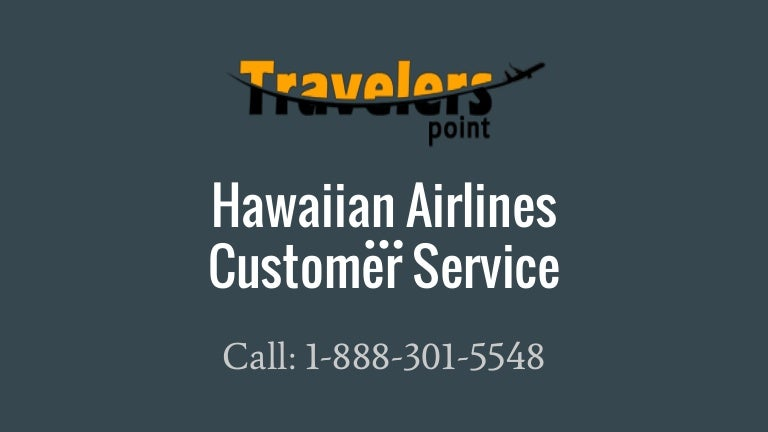 Hawaiian Airlines Customer Support Toll-Free