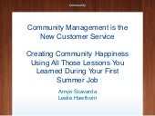 Community Management is the New Customer Service