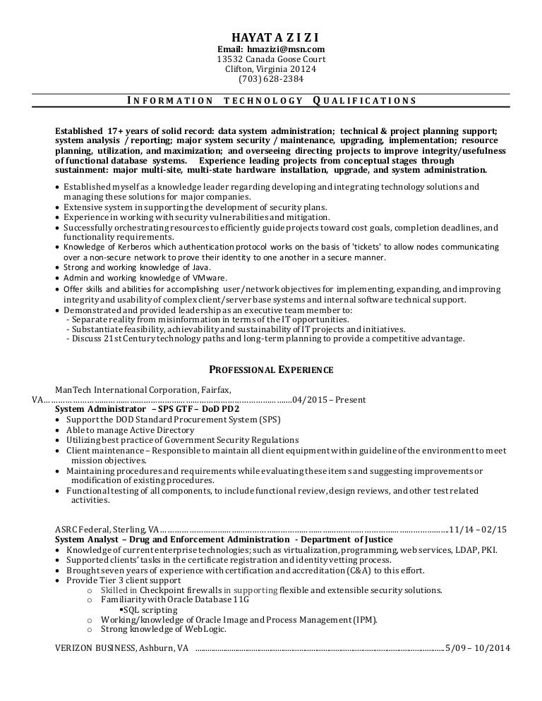hayat resume 1 - Sample Access Management Resume