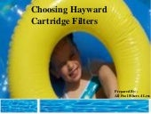 Choosing Hayward Cartridge Filters