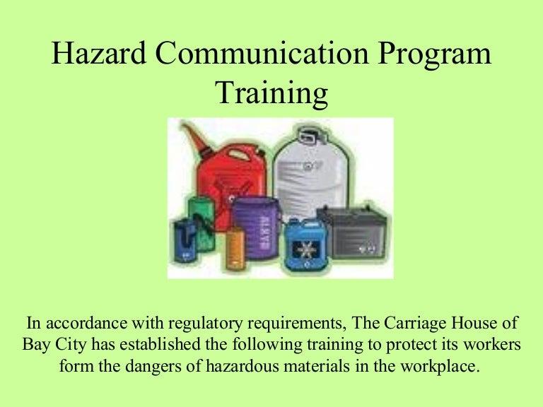 Hazard Communication Program Osha Training - Osha hazard communication program template