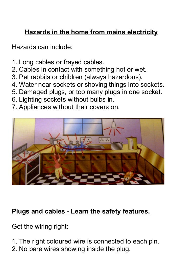 Hazards In The Home From Mains Electricity Wiring A Plug Colours Hazardsinthehomefrommainselectricity 110916143152 Phpapp01 Thumbnail 4cb1316183610