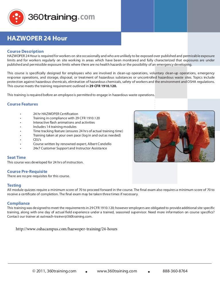 hazwoper 24 hour training