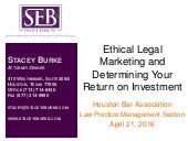 Ethical Legal Marketing and Determining Your Return on Investment