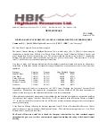 HIGHBANK ANNOUNCES RESULTS OF ANNUAL GENERAL MEETING OF SHAREHOLDERS