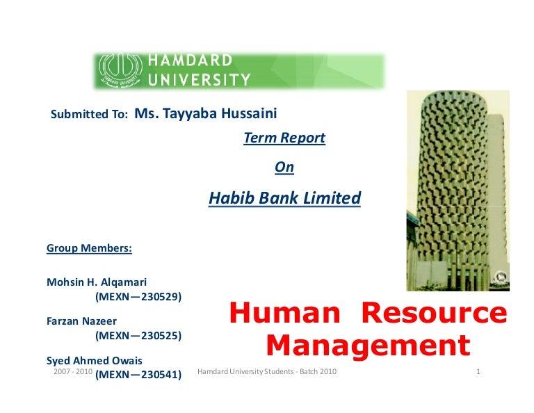 organizational chart of hbl