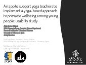 An app to support yoga teachers to implement a yoga-based approach to promote wellbeing among young people: usability study