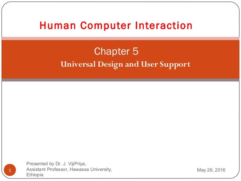 human computer interaction chapter 5 universal design and user suppor rh slideshare net Manual PDF File Manual File Flow Chart