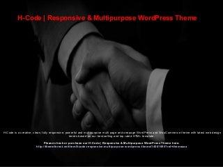 H-Code - Responsive & Multipurpose WordPress Theme