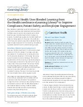 CaroMont Health Uses Blended Learning from the HealthcareSource eLearning Library to Improve Compliance, Patient Safety, and Employee Engagement