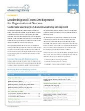HealthcareSource eLearning Library: Leadership Development Programs for All Levels