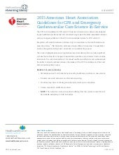 2015 American Heart Association Guidelines for CPR and Emergency Cardiovascular Care Science In-Service