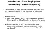 Introduction - Equal Employment Opportunity Commission (EEOC)