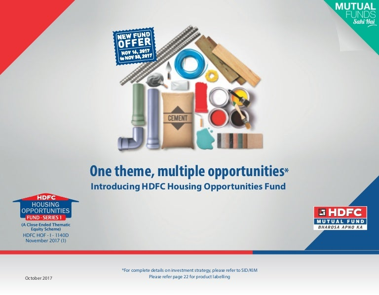 Hdfc Housing Opportunities Fund Nfo - Luxury hedge fund presentation scheme