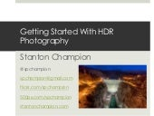 Getting Started with HDR Photography
