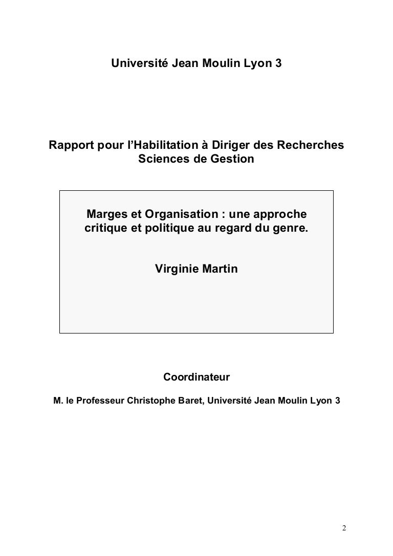 marges et organisation   une approche critique et