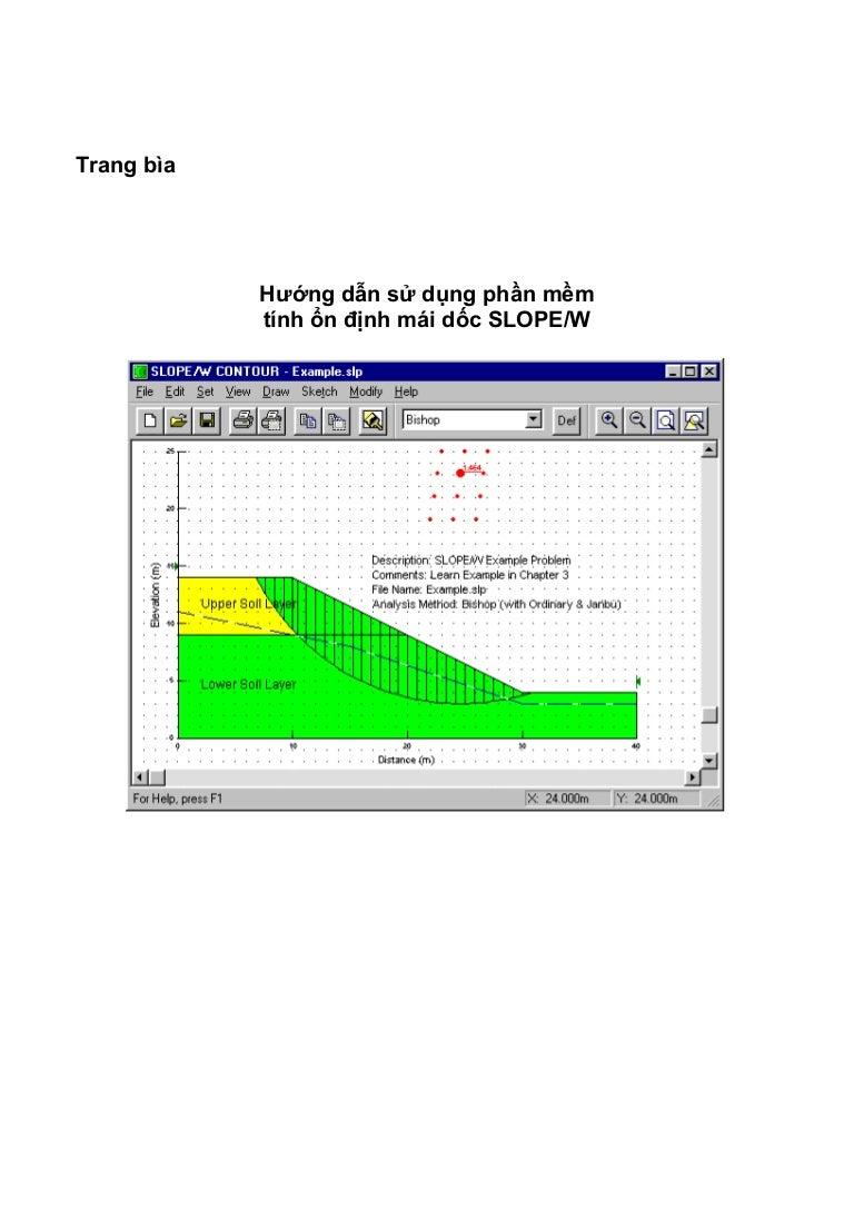 Hướng dẫn sử dụng phần mềm GeoSlope