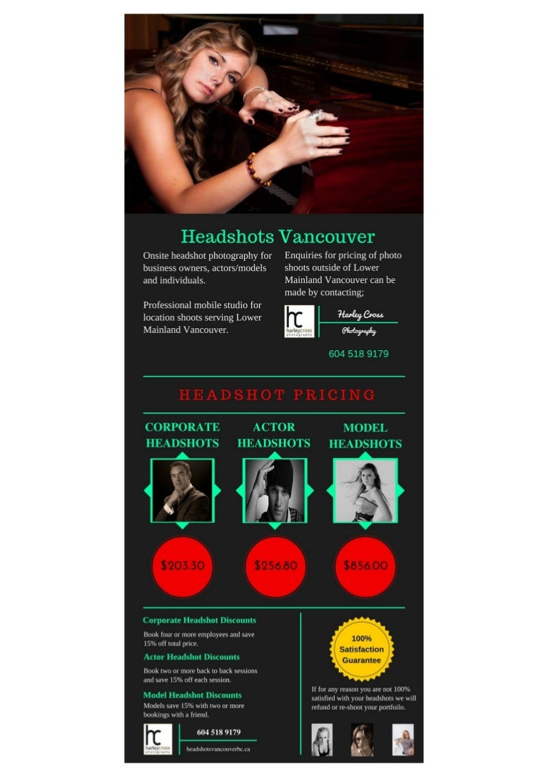Headshot Pricing Vancouver | Harley Cross Photography
