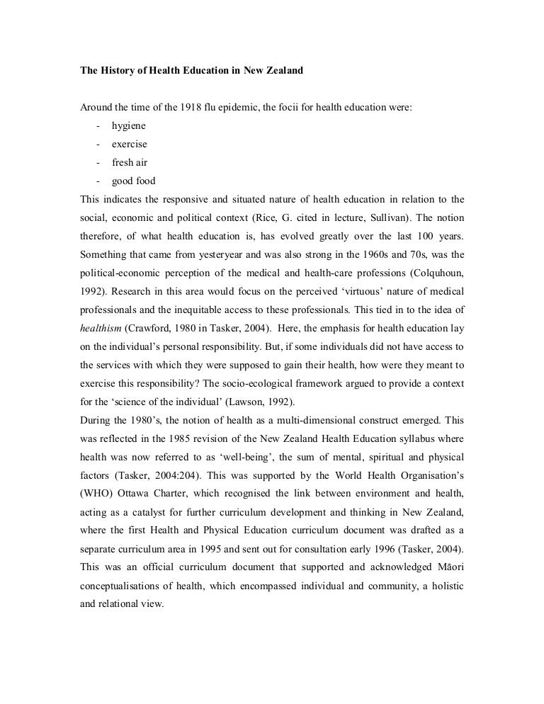 What Is A Thesis Statement In An Essay Examples  Exemplification Essay Thesis also High School Reflective Essay Examples The History Of Health Education In Nz And A Brief Rundown On The Curr Health Issues Essay