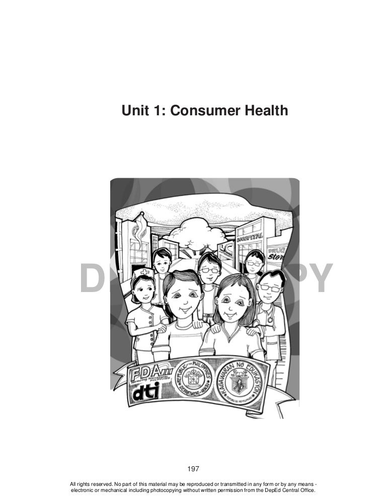 Learning Material {Unit 1: Consumer Health}