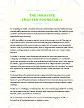 Health 2.0 innovate smarter Roundtable prospectus 2015