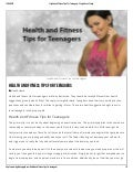 Health and fitness tips for teenagers   weight loss graph