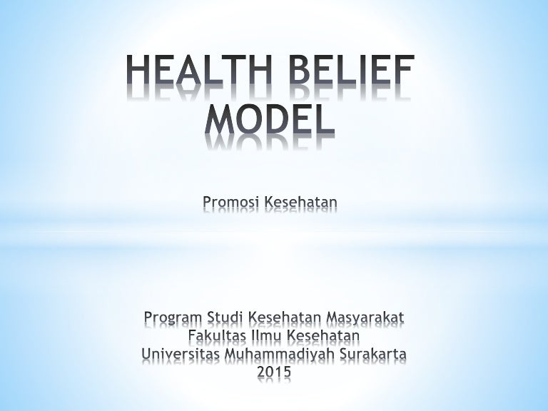 health belief model health promotion Conclusion the health belief model is a simultaneous process used to encourage healthy behavior among individuals who put themselves at risk of developing negative health outcomes a person must evaluate their perceptions of susceptibility and severity of developing a disease.
