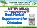 Herbal Remedies for Diabetes Ayurvedic Treatment- Bitter Melon Capsules