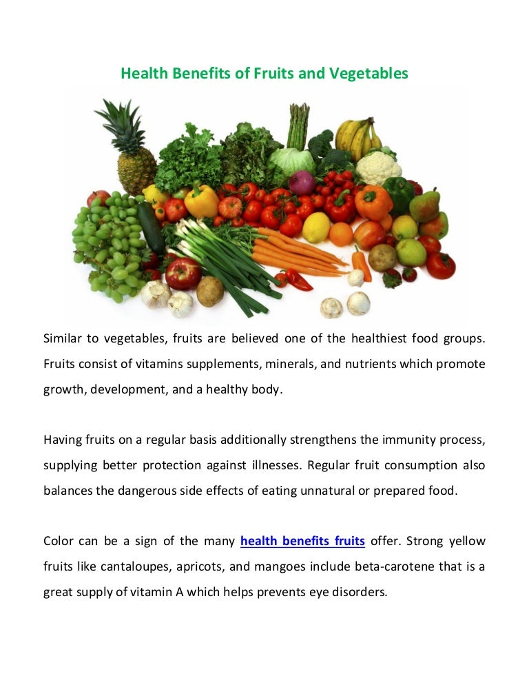 what are the benefits of eating more fruit and vegetables