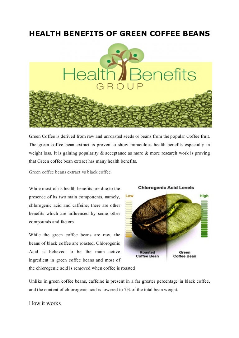 Health Benefits Of Green Coffee Beans