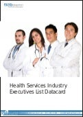 Health Services Industry Executives List Datacard