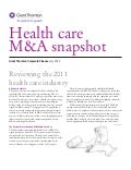 Grant Thornton - Healthcare M&A Snapshot 2012