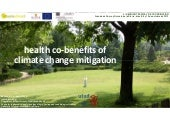 Health co benefits of climate change mitigation
