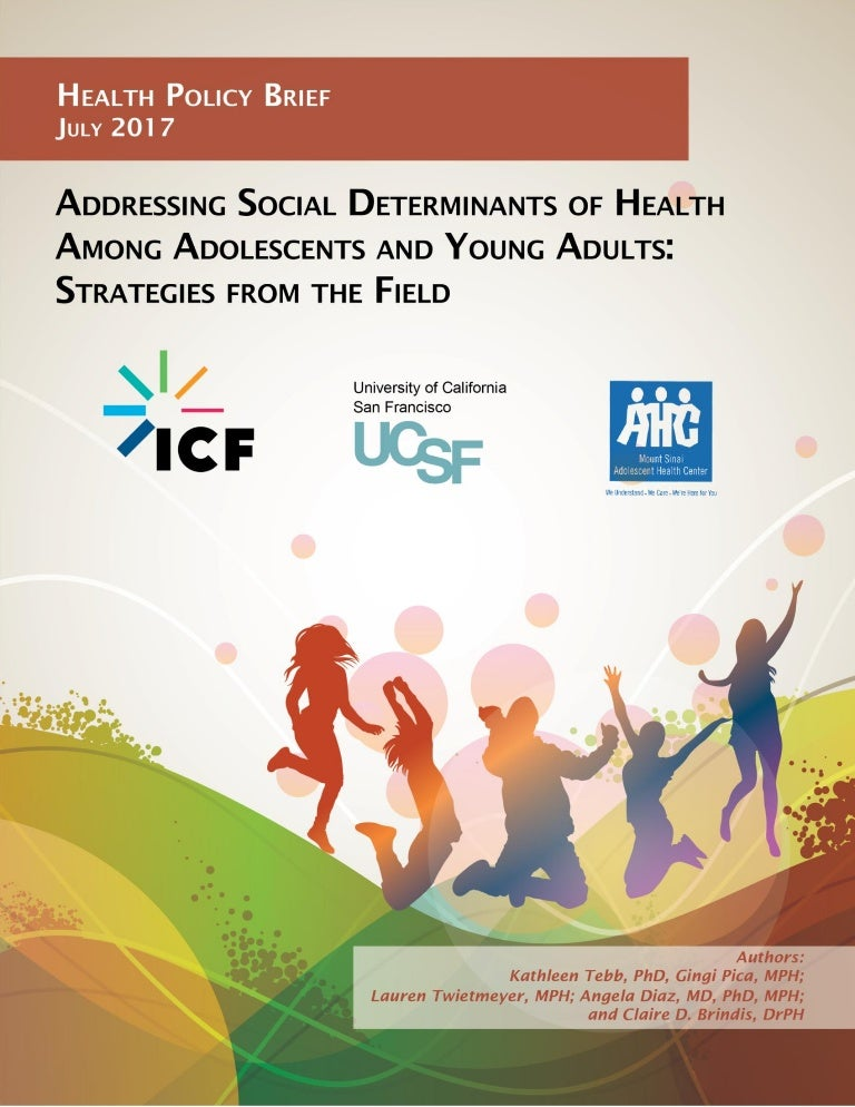 Addressing Social Determinants Of Health Among Adolescents And Young
