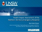 Health Impact Assessment of the Northern Territory Emergency Response
