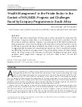 Health management in the private sector in the context of hiv aids 366 ftp