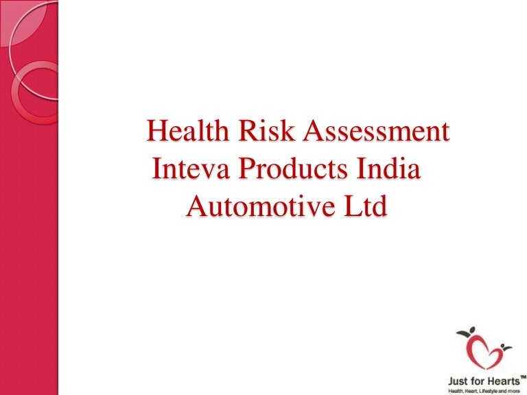 Health Risk Assessment  Sample Report