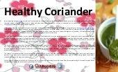 Healthy coriander