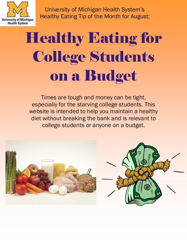 Healthy Eating For College Students On Budget
