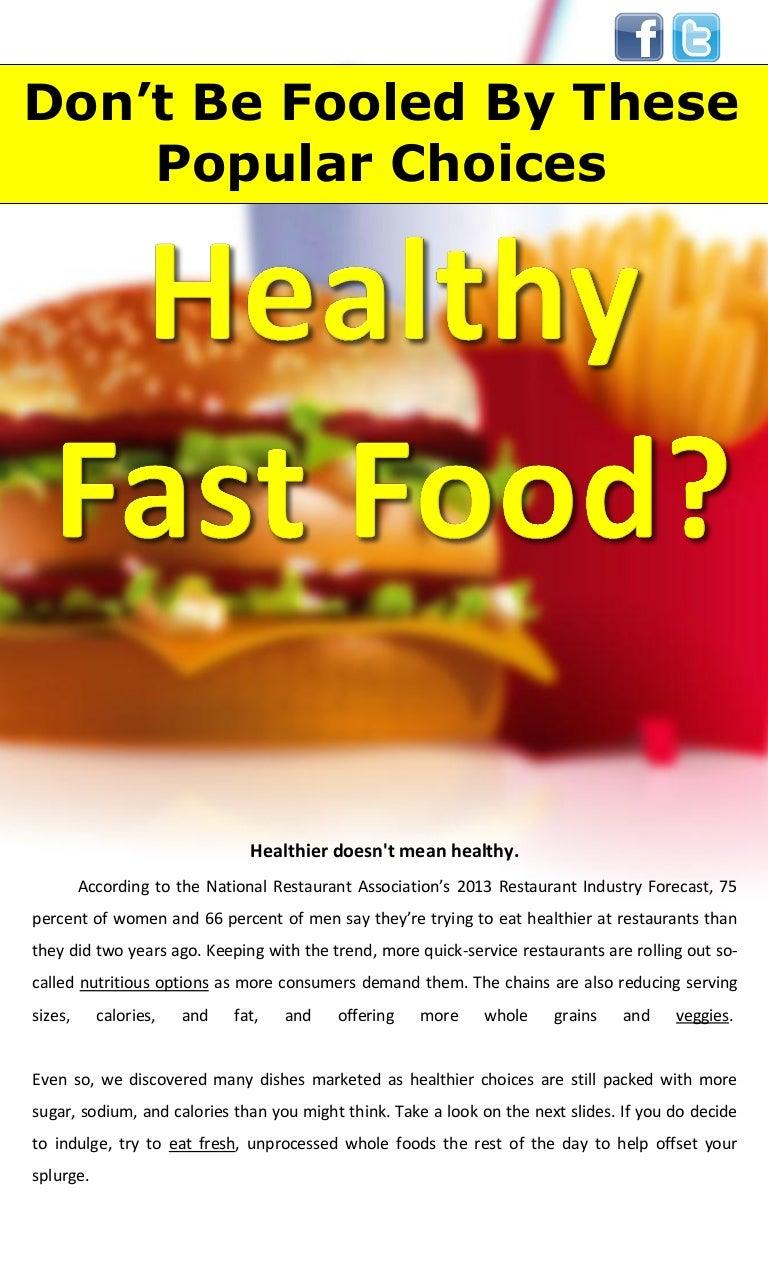 Healthy Fast Food?