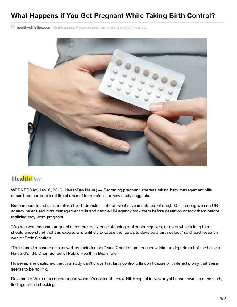 Birth control pills birth defects